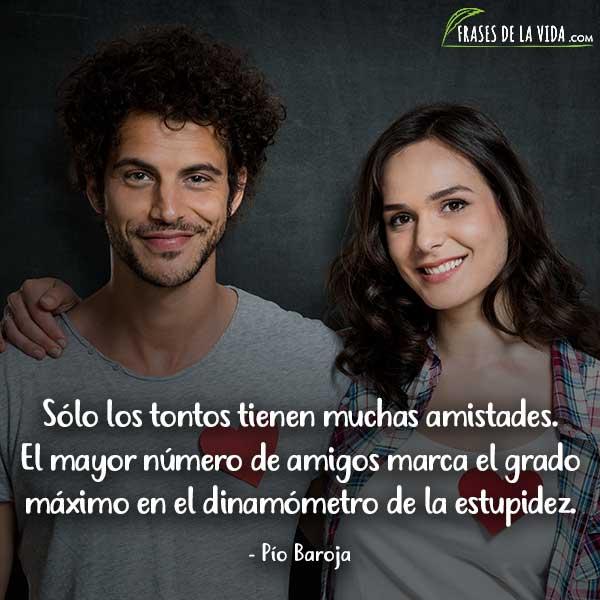 Frases de amistad, frases de Pío Baroja
