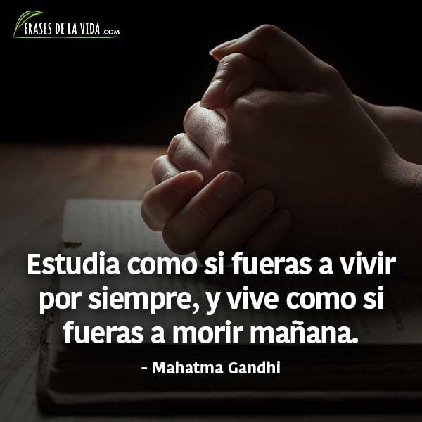 Frases para estudiar, frases de Mahatma Gandhi