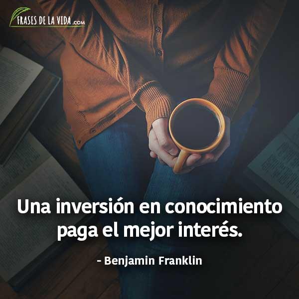 Frases para estudiar, frases de Benjamin Franklin