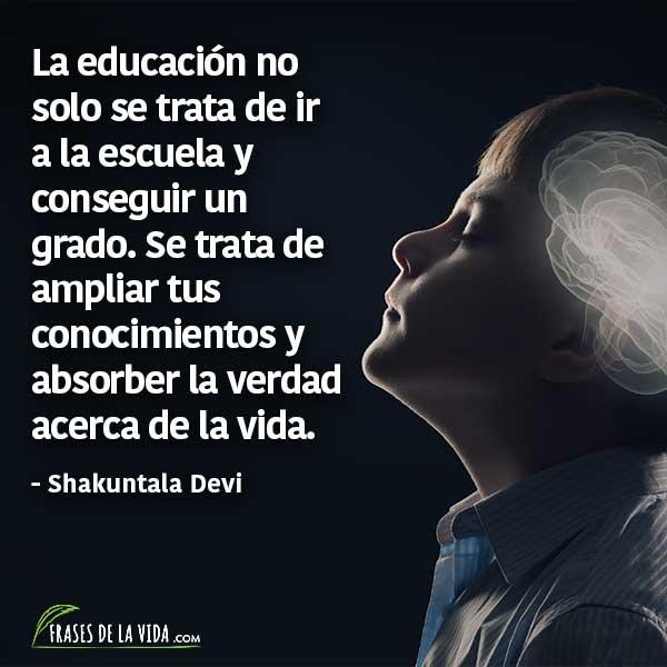 Frases para estudiar, frases de Shakuntala Devi