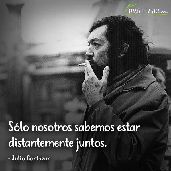 Frases de Julio Cortázar, Sólo nosotros sabemos estar distantemente juntos.