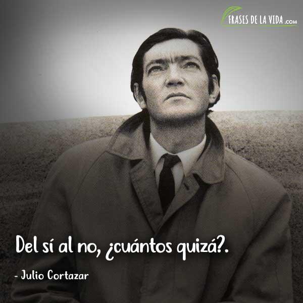Frases de Julio Cortázar, Del sí al no, ¿cuántos quizá?.
