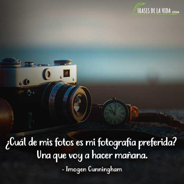 Frases de fotografía, frases de Imogen Cunningham
