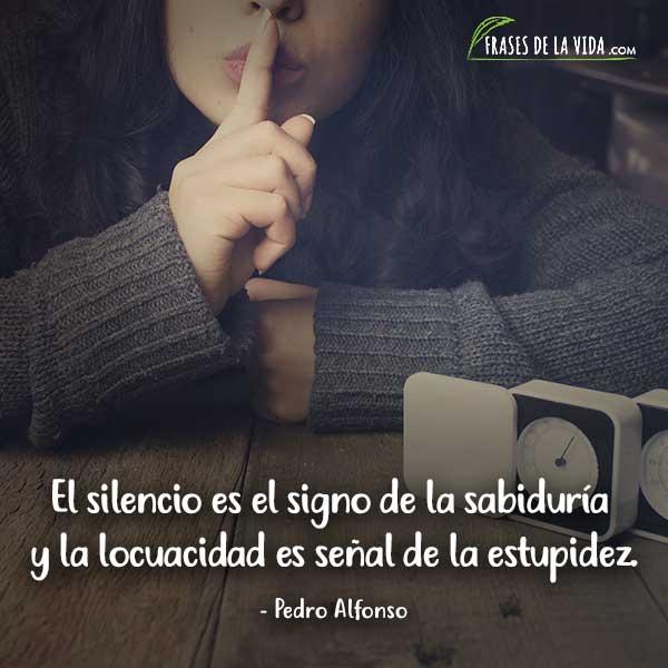 Frases sobre el silencio, frases de Pedro Alfonso
