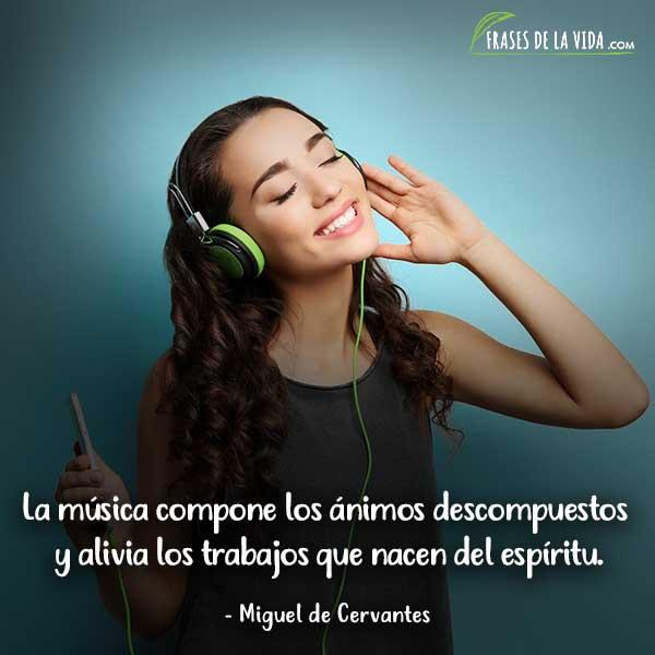 Frases sobre música, frases de Miguel de Cervantes