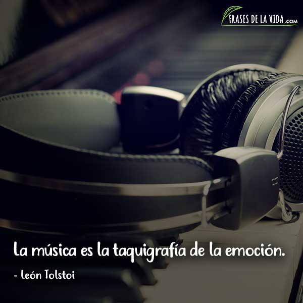 Frases sobre música, frases de León Tolstoi