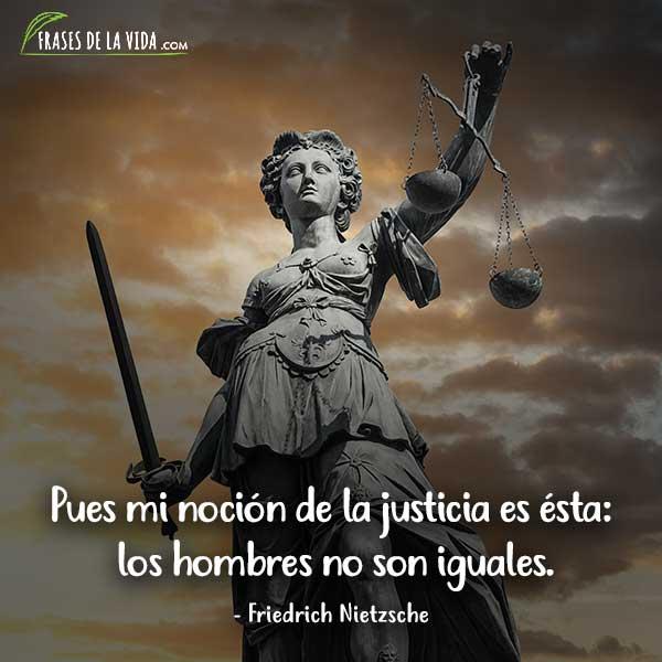 Frases de justicia, frases de Friedrich Nietzsche