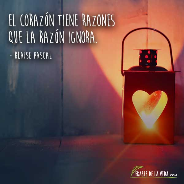 Frases de amor cortas, frases de Blaise Pascal