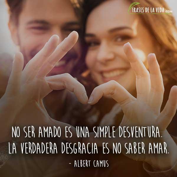 Frases de amor cortas, frases de Albert Camus