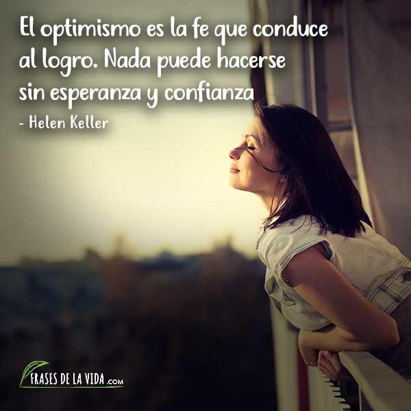 Frases de confianza, frases de Helen Keller