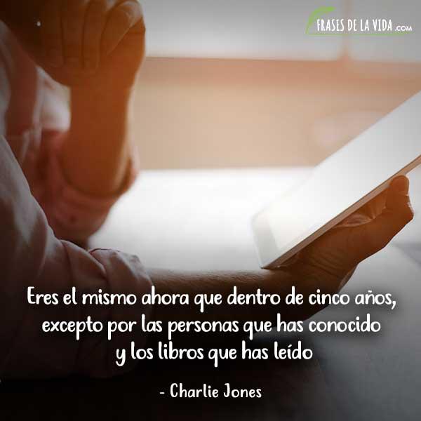 Frases de lectura, frases de Charlie Jones
