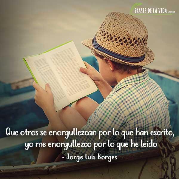 Frases de lectura, frases de Jorge Luis Borges