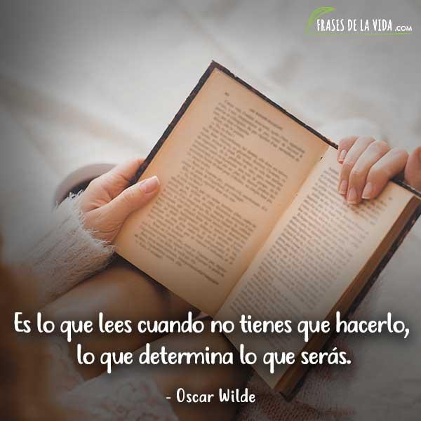 Frases de lectura, frases de Oscar Wilde