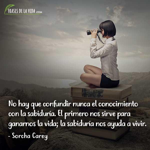 Frases de sabiduría, frases de Sorcha Carey