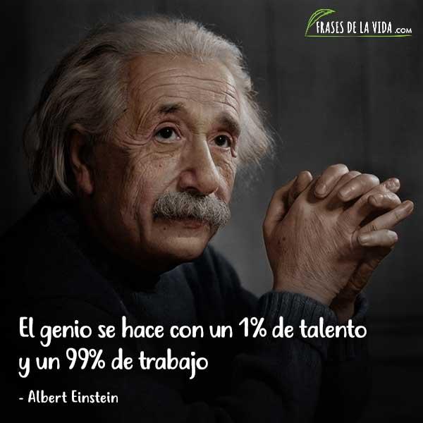 Frases para jóvenes, El genio se hace con un 1% de talento y un 99% de trabajo