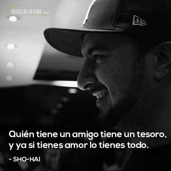 Frases de Sho-Hai, Quién tiene un amigo tiene un tesoro, y ya si tienes amor lo tienes todo.