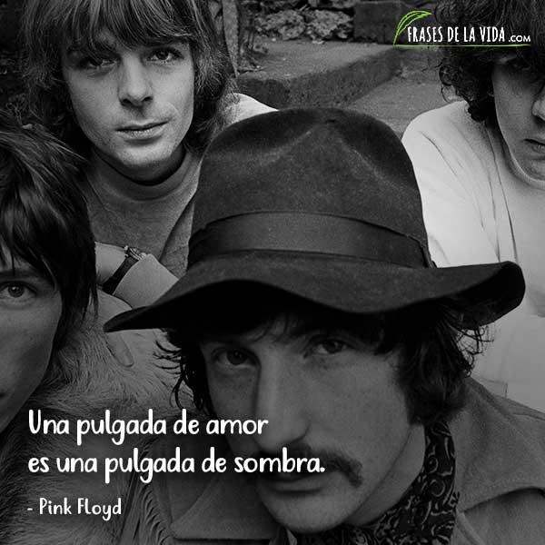 Frases de Pink Floyd, Una pulgada de amor es una pulgada de sombra.