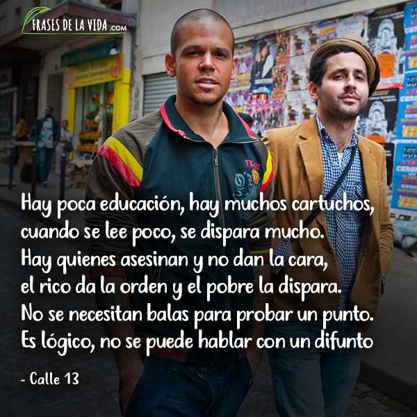 Frases de Rap. Frases de Calle 13