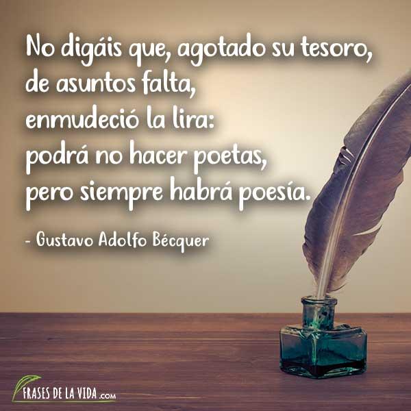 Frases de poesia, frases de Gustavo Adolfo Bécquer