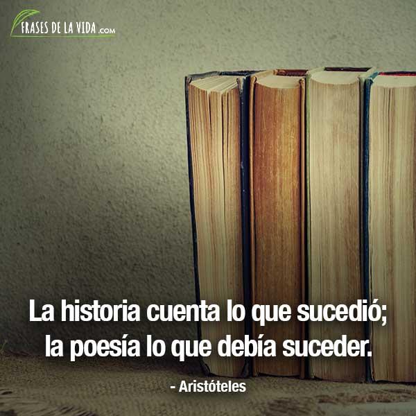 Frases de Aristóteles, La historia cuenta lo que sucedió; la poesía lo que debía suceder.