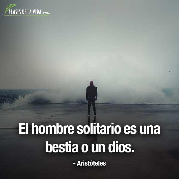 Frases de Aristóteles, El hombre solitario es una bestia o un dios.