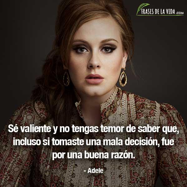 Frases de mujeres fuertes, frases de Adele