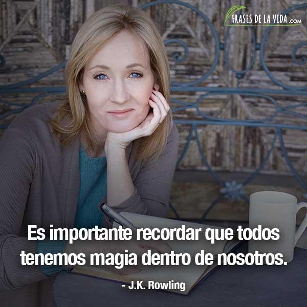Frases de mujeres fuertes, frases de J.K. Rowling