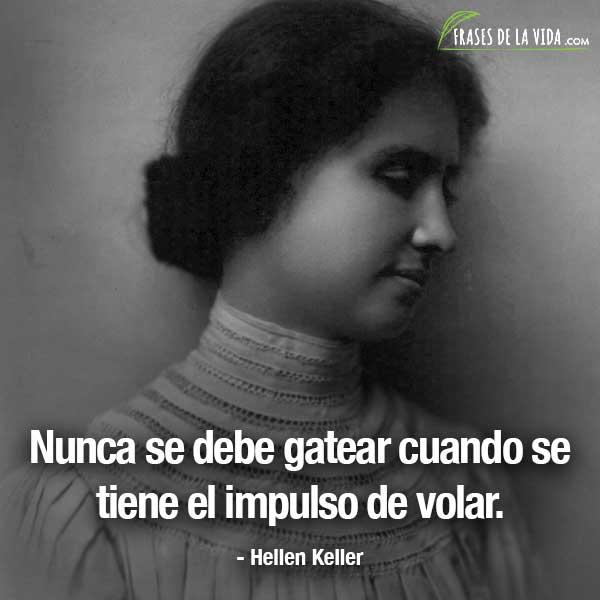 Frases de mujeres fuertes, frases de Hellen Keller