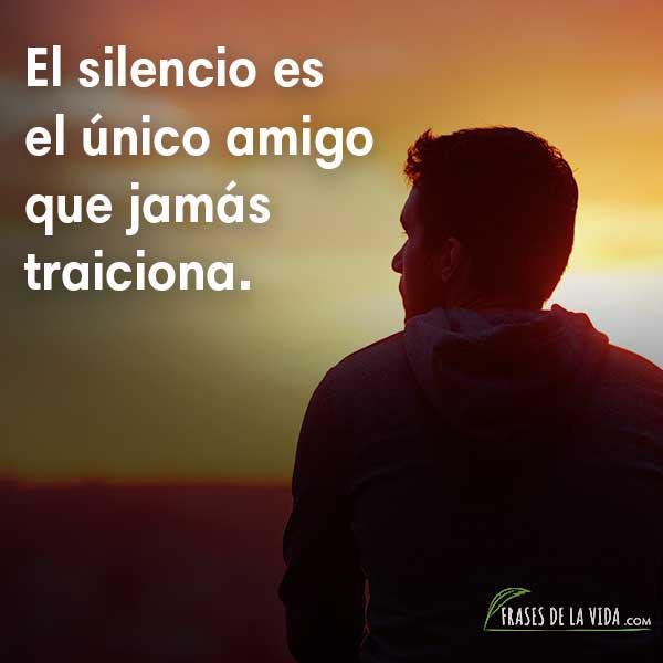 Frases de Confucio, El silencio es el único amigo que jamás traiciona.