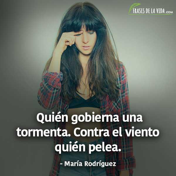 Frases de Mala Rodriguez, Quién gobierna una tormenta. Contra el viento quién pelea.