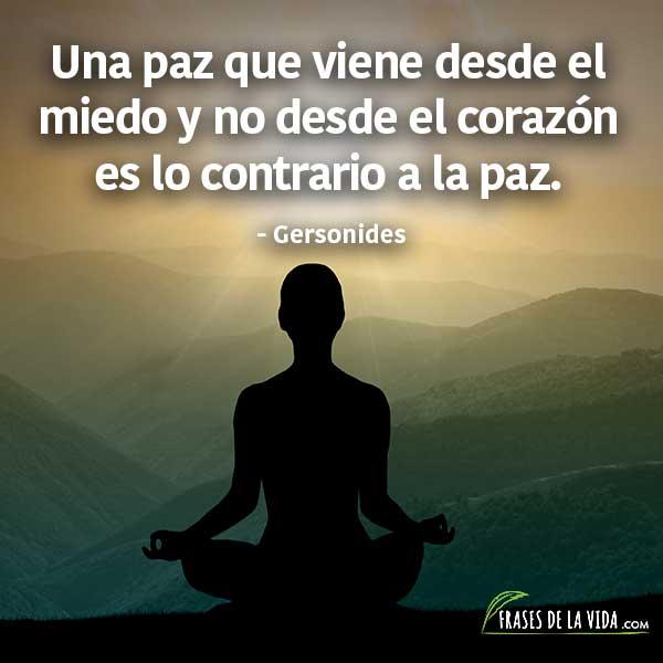 Frases de paz, Gersonides