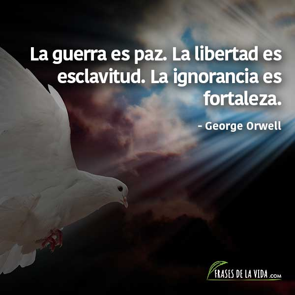 Frases de paz, frases de George Orwell