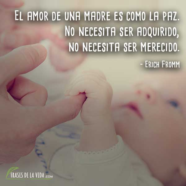 Frases a la madre, frases de Erich Fromm