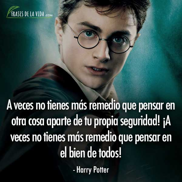 Frases de Harry Potter, frases de Harry Potter