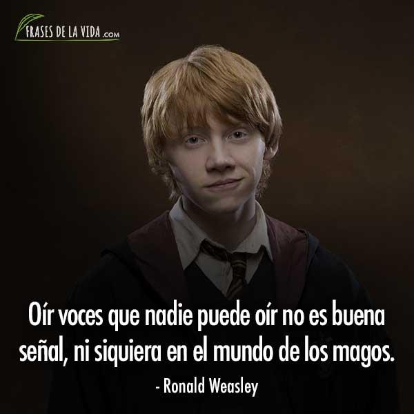 Frases de Harry Potter, frases de Ronald Weasley