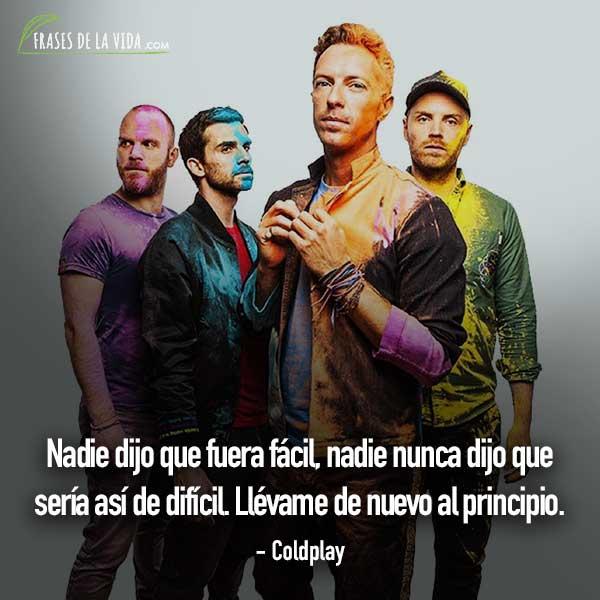 Frases De Baladas Frases De Coldplay Frases De La Vida