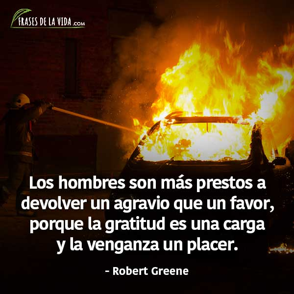 Frases de venganza, frases de Robert Greene