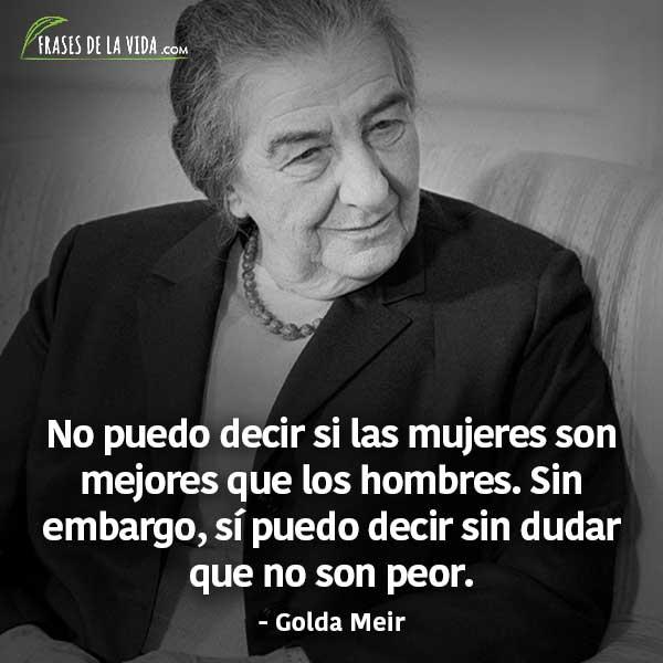 Frases para el día de la mujer, frases de Golda Meir