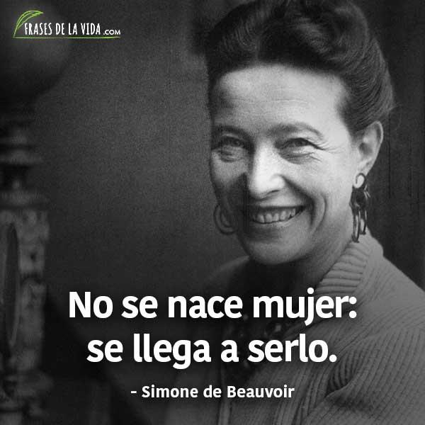 Frases para el día de la mujer, frases de Simone de Beauvoir