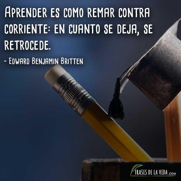 Frases para estudiantes, frases de Edward Benjamin Britten
