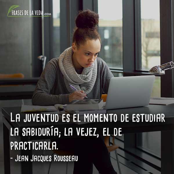 Frases para estudiantes, frases de Jean Jacques Rousseau