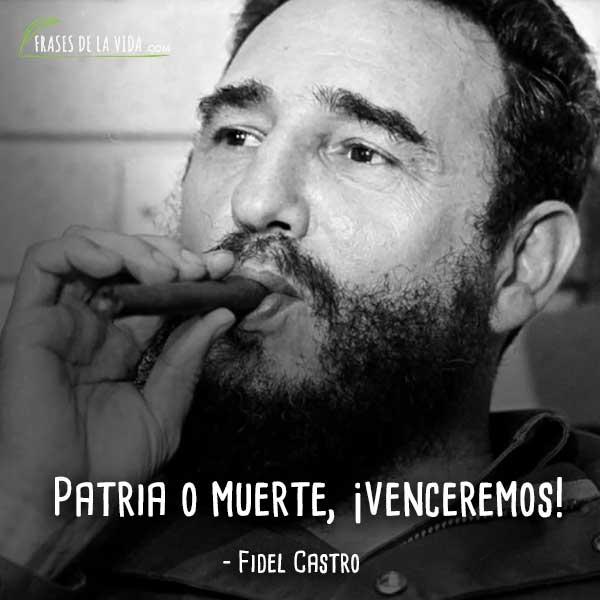 Frases de Fidel Castro, Patria o muerte, ¡venceremos!