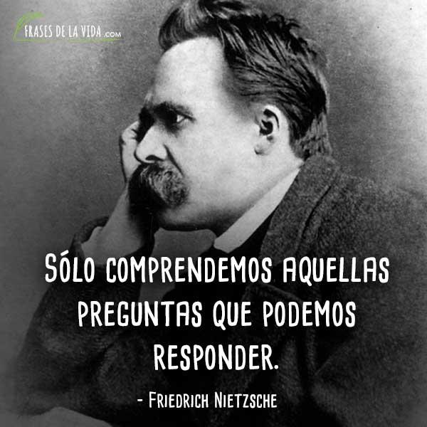 Frases de Nietzsche, Sólo comprendemos aquellas preguntas que podemos responder.