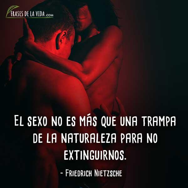 Frases de Nietzsche, El sexo no es más que una trampa de la naturaleza para no extinguirnos.
