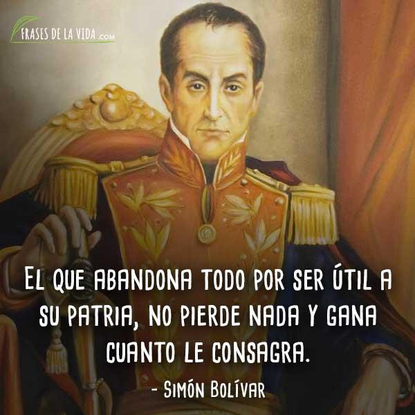 110 Frases De Simón Bolívar Líder De La Independencia