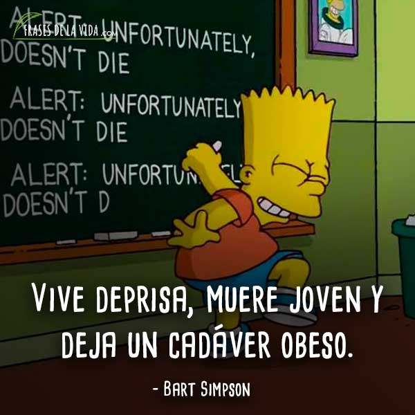 80 Frases De Bart Simpson El Gamberro De La Familia Con