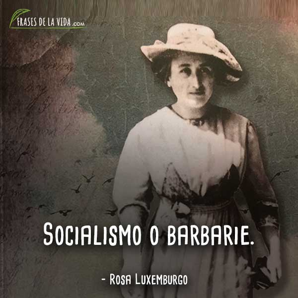 60 Frases De Rosa Luxemburgo La Valiente Activista Con Imagenes