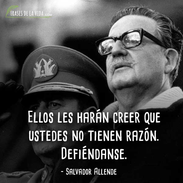 Image result for frases allende salvador